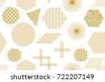 trendy print with... | Shutterstock .eps vector #722207149