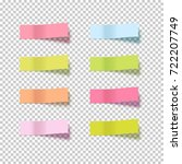 note sticky sticker isolated.... | Shutterstock .eps vector #722207749