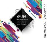 minimalistic design  creative... | Shutterstock .eps vector #722209477