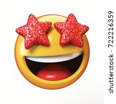 star eyes emoji isolated on... | Shutterstock . vector #722216359