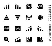 miscellaneous charts icon set | Shutterstock .eps vector #722216851