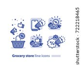 grocery store basket icon ... | Shutterstock .eps vector #722218465