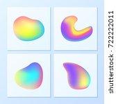 creative   vibrant gradients.... | Shutterstock .eps vector #722222011