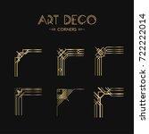 set of art decocorners for... | Shutterstock .eps vector #722222014