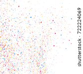 colorful explosion of confetti  ... | Shutterstock .eps vector #722224069