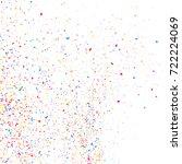 colorful explosion of confetti  ... | Shutterstock .eps vector #722224069