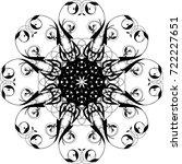 vector floral design element | Shutterstock .eps vector #722227651
