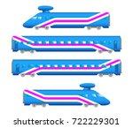 vector flat  railway jet... | Shutterstock .eps vector #722229301