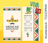 mexican menu template with...   Shutterstock .eps vector #722229904