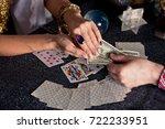 gypsy fortune teller wonders on ... | Shutterstock . vector #722233951