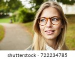 beautiful blue eyed blond in... | Shutterstock . vector #722234785