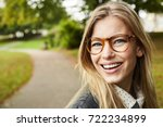 portrait of beautiful smiling... | Shutterstock . vector #722234899