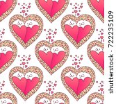 valentines day seamless pattern ... | Shutterstock . vector #722235109