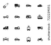 set of 16 editable transport... | Shutterstock .eps vector #722239051
