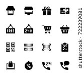 miscellaneous shopping icons  ... | Shutterstock .eps vector #722239081
