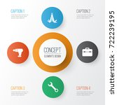 tools icons set. collection of... | Shutterstock .eps vector #722239195