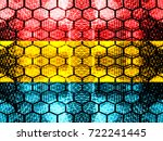 red  yellow  and blue honeycomb