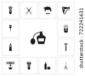 set of 13 editable barber icons....