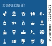 set of 20 editable hygiene... | Shutterstock .eps vector #722241871
