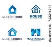 vector logo design. modern... | Shutterstock .eps vector #722246344