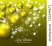 merry christmas and happy new... | Shutterstock .eps vector #722249671