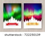 winter landscape  postcard... | Shutterstock .eps vector #722250139