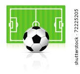 soccer ball with green field on ... | Shutterstock . vector #72225205