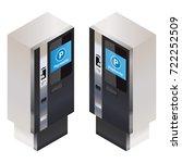 vector isometric parking... | Shutterstock .eps vector #722252509