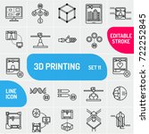 3d printing icon set. can use... | Shutterstock .eps vector #722252845