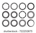 set of round border design. for ...   Shutterstock .eps vector #722252875