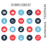 set of 20 editable trade icons. ...
