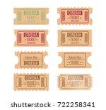 set of different retro movie... | Shutterstock .eps vector #722258341