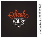 steak grill bbq logo design... | Shutterstock .eps vector #722259145
