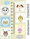 kids height chart.cute and... | Shutterstock .eps vector #722262325