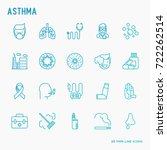 asthma thin line icons set  air ... | Shutterstock .eps vector #722262514