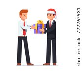 business man boss in santa... | Shutterstock .eps vector #722262931
