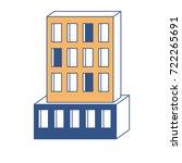 hotel building icon in color