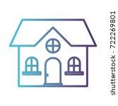 home of one floor gradient... | Shutterstock .eps vector #722269801