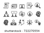 headhunting related vector... | Shutterstock .eps vector #722270554