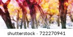 abstract painting of colorful...   Shutterstock . vector #722270941