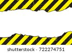 line yellow and black color... | Shutterstock .eps vector #722274751