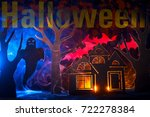 the inscription halloween | Shutterstock . vector #722278384