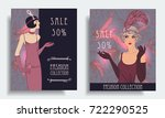 retro fashion. costume party or ... | Shutterstock .eps vector #722290525