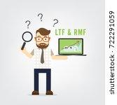 business man hold laptop find... | Shutterstock .eps vector #722291059