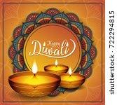 diwali festival flyer and... | Shutterstock .eps vector #722294815