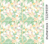 Lunaria Vector Pattern Stained...