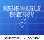 hand drawn renewable energy... | Shutterstock .eps vector #722297359