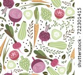 seamless pattern with... | Shutterstock .eps vector #722301415