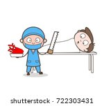 cartoon cardiologist doing... | Shutterstock .eps vector #722303431