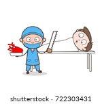 cartoon cardiologist doing... | Shutterstock .eps vector #722303431